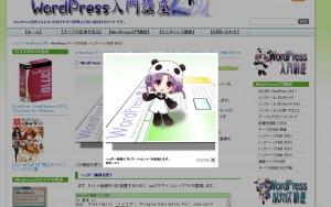 このようにサイトの表示の上に画像が表示されるモノです。